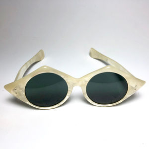 Accessories - 1960s French Pearlized Oval Sunglasses